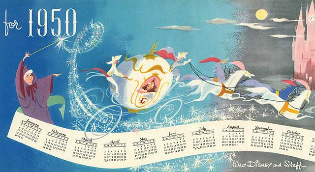feat disney christmas card 1950