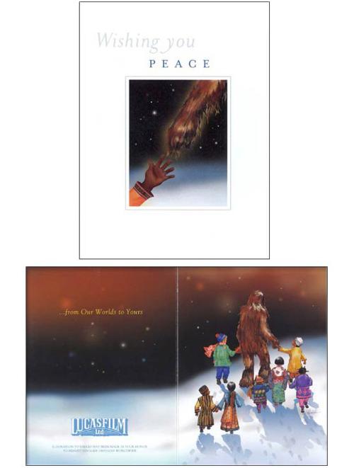 star wars xmas card 2001