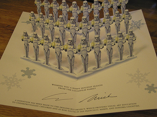 star wars xmas card 2007