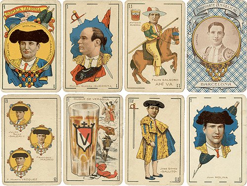 baraja taurina deck for chocolate angelical-manufactured by simeon durá-valencia, spain 1916