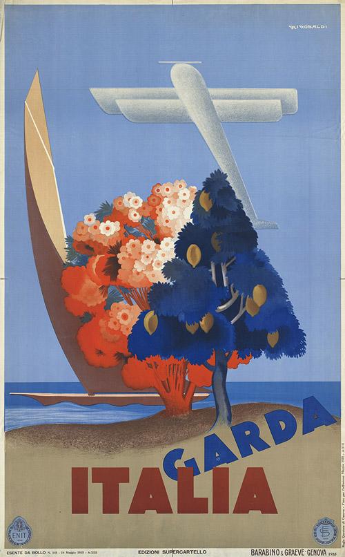 boston public library-travel posters-italia garda-giuseppe riccobaldi