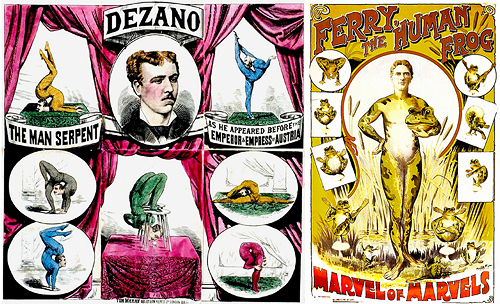 circus poster dezano the man serpent
