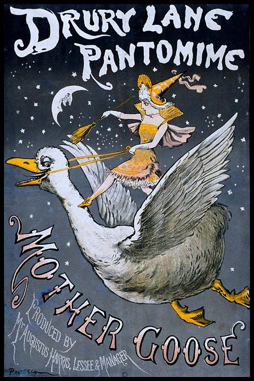 circus poster drury lane pantomine mother goose