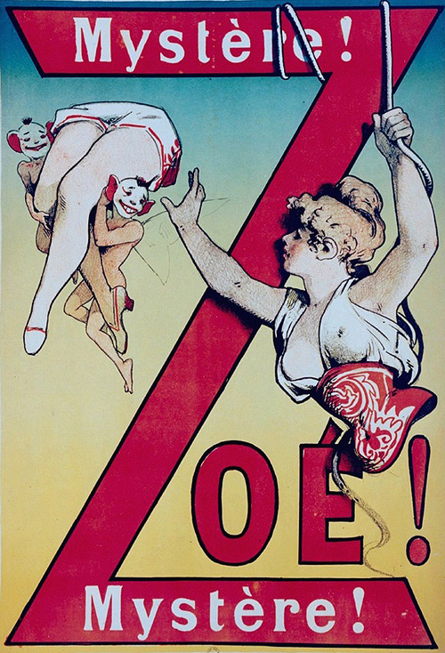 circus poster mystere zoe