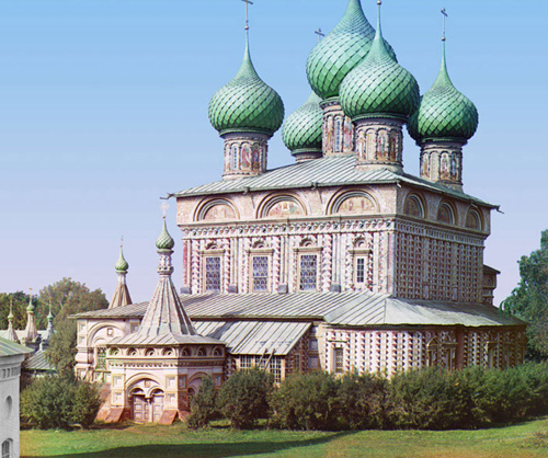 sergei mikhailovich prokudin-gorskii-church of the resurrection kostroma-1910