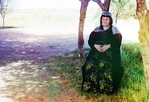 sergei mikhailovich prokudin-gorskii-georgian woman-1910