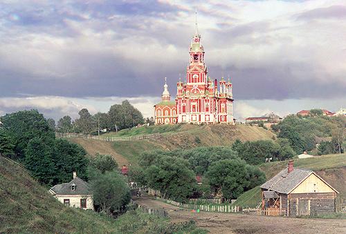 sergei mikhailovich prokudin-gorskii-view of nikolaevskii cathedral in mozhaisk-1911