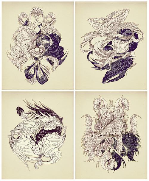 sougwen-fleurette de lis